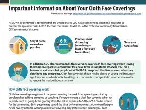 Important Information About Your Cloth Facing Coverings